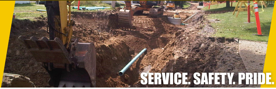 Services, Safety, Pride - excavation