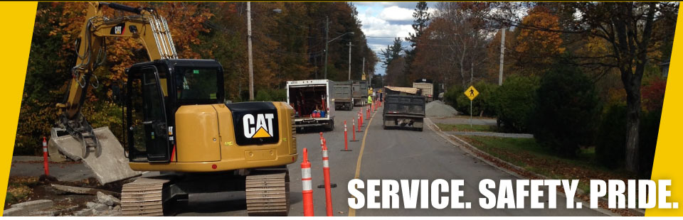 Services, Safety, Pride - road work